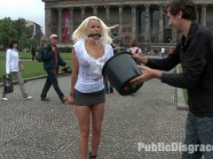 We are back on the streets again! This week's update is the first shoot from our latest trip to Europe. We get a smoking hot German Milf, bind her, fuck her, and leave her on the street covered in cum!video