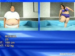 Super-sized BBWs wrestle Wrestling BBW bitches Mira and Monika get wildvideo