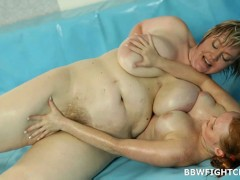 Diana fucks referee 2 naked overweight chicks wrestlingvideo