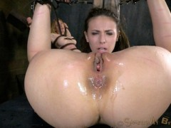 Casey Calvert is Inverted, skull fucked & squirting Casey Calvert's new favorite way to get her throat fucked hard and deep is upside down. Impaled on a dildo and her breasts bound are also musts. We get a reward for making sure that everything is up to snuff. It isn't everyday that we get to see a girl squirt but everything we do to Casey has her just about ready to burst. We tie her down and finger blast her until she can't take anymore.video