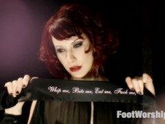 Maitresse Madeline hypnotizes, tantalizes, taunts and teases Jake Jammer, a desperate foot lover coming to The Armory for an experience of a lifetime! He's rendered helpless and can barely contain himself with the scent of her feet in his face. Madeline has orgasms just from him licking and sucking her toes and gives him a long teasing foot job and allows him to feed her toes every drop of cum in his balls!video