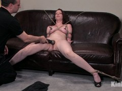 As a special treat I have been posting the first 5 original Casting Couch shoots that were only available on KOD.  Since they are now officially a part of Hogtied weekly updates, I didn't want you to miss out on our new superstar's first time in front of our Kink cameras... For your enjoyment & hers, I want to introduce you to Amber Keen's first ever porn shoot...There are times when you meet someone that just gives you a feeling of wanting more. Amber is such a woman. She met Lochai for a fashion photo shoot earlier in the week and he just had to bring her in. This is what it looks like when your gut feeling is correct. Amber is so well-spoken, so graceful, so beautiful you will fall in love with her as she shows you just how much she loves to be tied & made to orgasm over & over again. Warning: Do not watch her eyes -- you WILL get lost in them forever!video