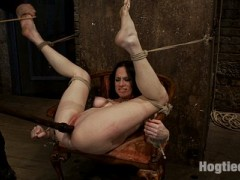 Welcome back Scarlet Fox to hogtied, this is the last scene we have of this girl and we saved the truly amazing for last.  This might look like your typical foot caning scene but let me tell you something right now, you have never seen anything like what happens during this scene. Ever.  It was a truly amazing occurrence that might never again be repeated. It is that amazing.The best way to explain what happened might be the simplest.  We think that during the scene we switched or short circuited her pain center.  In the beginning the caning hurts and she dealt with it.  In the middle of the scene we made her cum, not just any orgasm but a mind shattering one and we didn't let up, we made the orgasms brutally uncomfortable to the point of driving her insane.  It was at that moment, we surmise, that her entire brain temporarily re-wired it self for self defense, because what happened next was amazing beyond words.After we ripped, and I mean brutally ripped the orgasms from her helpless body, we were ready to end the scene.  Then we decided as almost an afterthought to cane her foot just one more time.  When we did, nothing prepared us or the models for what followed.  Hitting her foot made her cum, not just any orgasms but something we have never seen before.  Somehow her brain registered the brutal hit of the cane as extreme pleasure.  There are no other words to describe this. You simply must watch it for yourself and be amazed as we all were.video