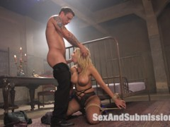 Deanna Dare meets a stranger on a dark night and submits to bondage and rough sex.  Quickly turned into a submissive slut, Deanna Dare is made to gag on cock and take it up the ass for the mysterious man.video