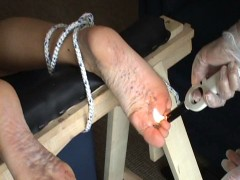 Feet pain Slavegirl takes all kind of pain on her feetvideo