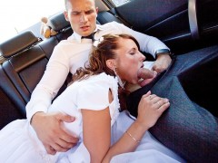 Teen bride gives head in the car It's wedding, my dear friends! But not the wedding of a boring couple who won't do more than a missionary position on wedding night. These two are closest friends of mine, they are real sex addicts and always experiment with hardcore anal sex, amateur dp etc. I decided that gangbang porno would be a perfect wedding present for them! So when we were on our way to the hotel, somewhere in the middle of the woods, I pretended that the car got broken. We got out of it, opened champagne and got the sexy ...video