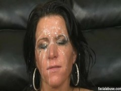 Facial Abuse Kendra Secrets Kendra Secrets kind of looks a little bit like the WWE's Shawn Michaels, but with black hair. Like Shawn Michaels, she's washed up looking, too. Bootleg gave her the smackdown, no pun intended. He shoved his cock into her stupid face like the whore was in a hot dog eating contest. Then he fucked her ass, much how like I get fucked on tax day, deep and hard. She was able to take is old manwhore cock to the balls, even though he had to use a little muscle to get her lips to touch his balls. Once he was done, he nutted all over her face, and her makeup ran like some 80's hair band groupie crying to a top 40 love ballad.video