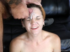 "Two Nuts To The Face Hazel Allure is back, and honestly... no one really gives a shit. Truth be told, we needed an update and figured ""Oh well... she's not the greatest chick we ever filmed."" You know how it is... the second time around, we have to step it up. We went ham on this bitch last time so for this shoot, we added an extra guy. Pauly and Bootleg ran the tag team on her. Hell, we even shot some double penetration. Of course, the X32 modulator (drilldo) made a second appearance... stealing the show. Then, two nuts on the face and we're back home in time to watch Sports Center.video"